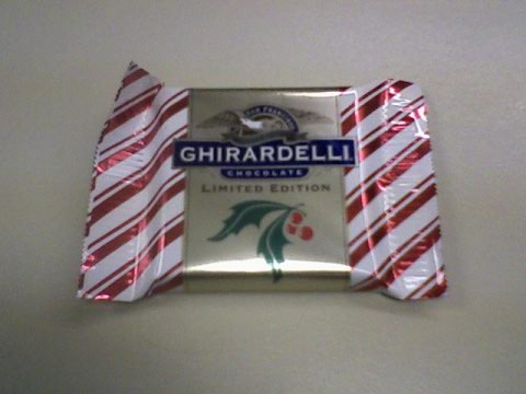 Peppermint bark...so much better than peanut M&M's, less cals too!