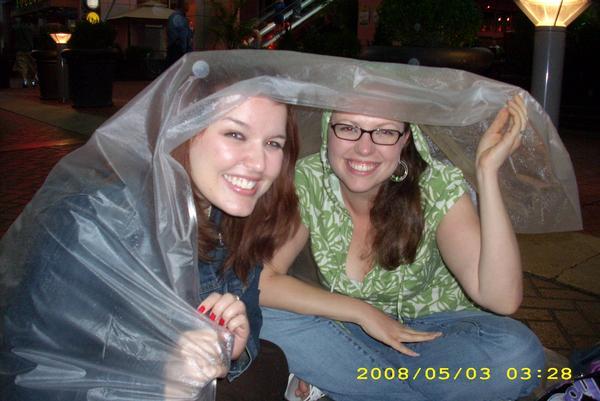 Courtney & me before a Goo Goo Dolls show (raining)