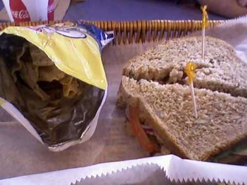 Lunch at Great Harvest - sandwich & sun chips