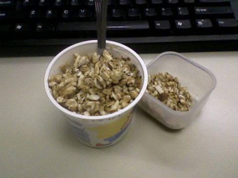 Snack of champions - Yogurt + Go Lean crunch