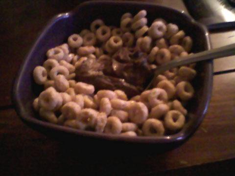 Cheerio mix w/ Dark chocolate dreams PB