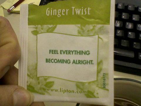 Good tea, great message