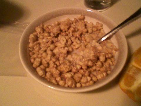 Annie's Cinnabunnies cereal + 1% milk
