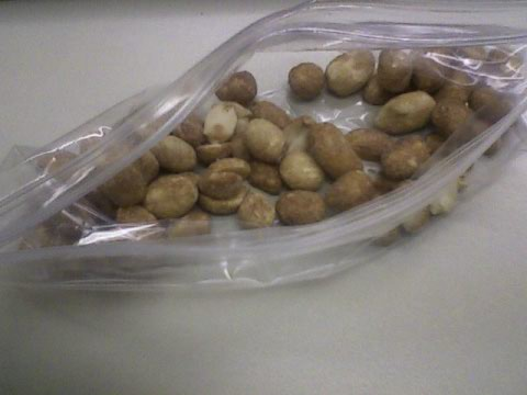 A.M. snack - lightly honey roasted peanuts
