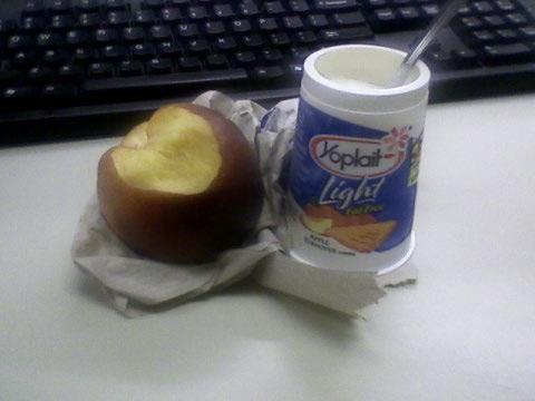 Yoplait apple turnover + nectarine