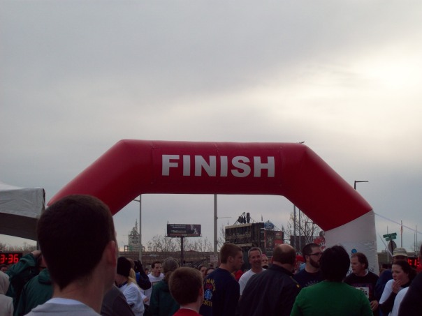 The finish line, yay!