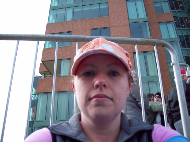 Taking a breather after the race, I don't look happy but I am